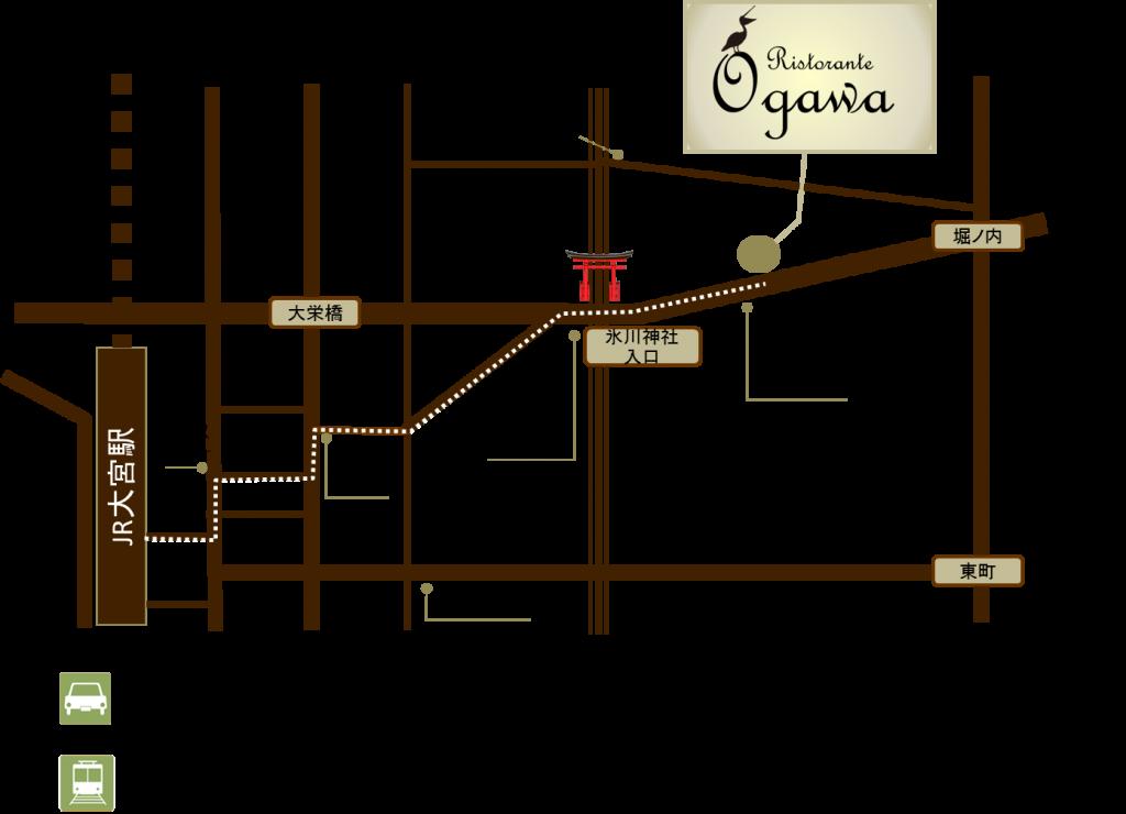 リストランテオガワ地図2